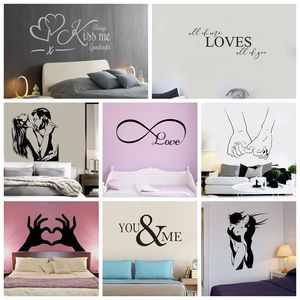 New Design Lovers Quotes Wall Stickers For Bedroom Decor Decals Room Decor Sticker Sweet Home Phrase pegatinas de pared