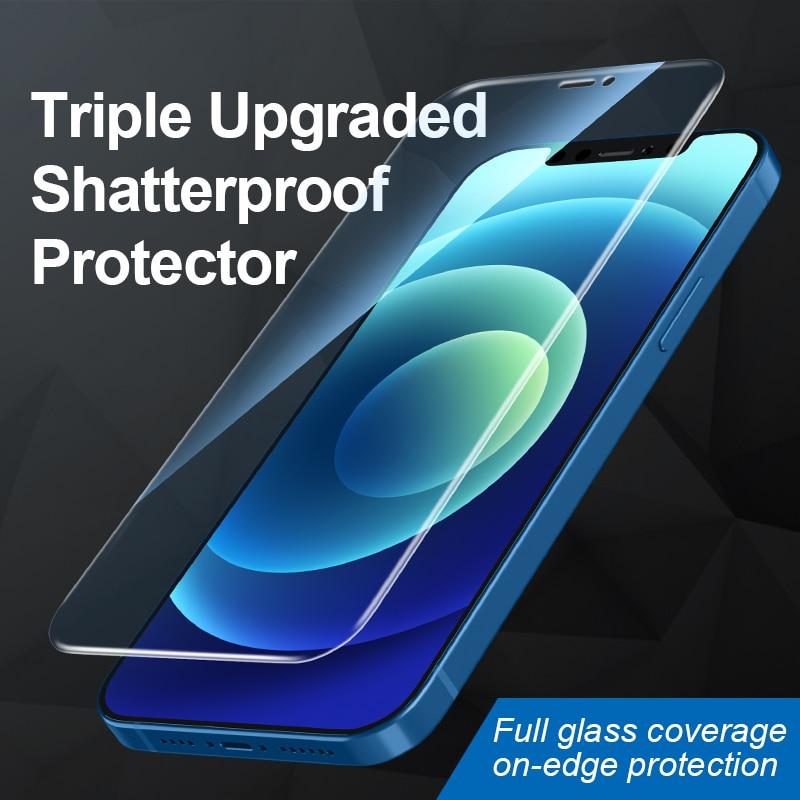 Высококачественное закаленное стекло для iPhone 12 Mini Pro Max с защитой от синего света