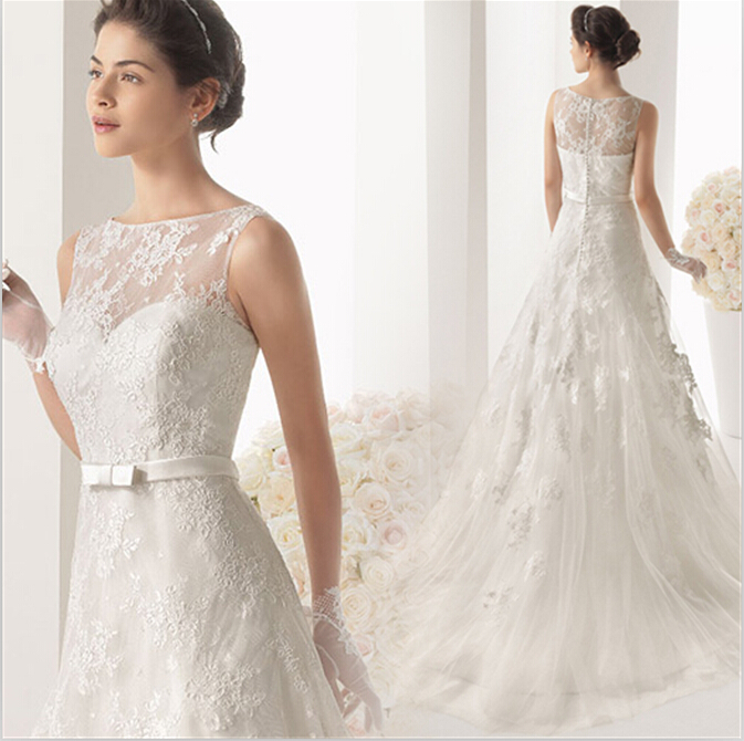 New Arrival Sexy Off The Shoulder Bridal Gowns Lace Appliques A-line Bow Sashes Wedding Dress 2016 Vestido De Noiva Casamento