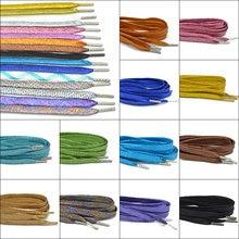 1 пара блеск шнурки эластичная цветная обувь на плоской подошве