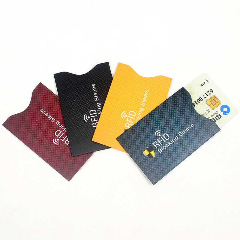 Newest 5PCS Anti Theft For RFID Credit Card Protector Blocking Cardholder Sleeve Skin Case Covers Protection Bank Card Case