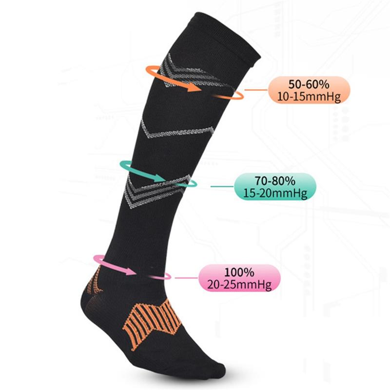 Compression Socks For Men Women Anti Fatigue Pain Relief Knee High Stockings Flight Travel Riding Sport Long Socks
