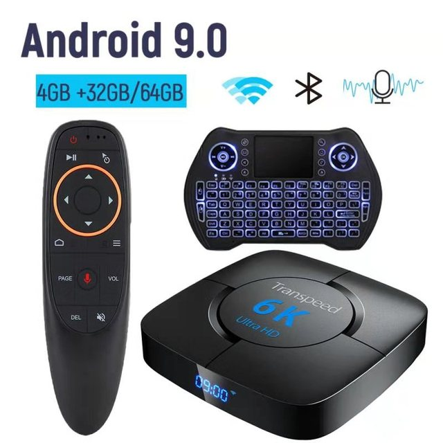 Tv box Bluetooth Android 9.0 Google Media player 6K 3D TV BOX Store Wifi Set Top Tv Box