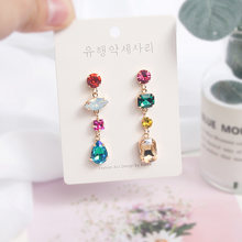 Mwsonya 2020 модные корейские разноцветные хрустальные серьги