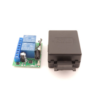 Image 2 - 12V 10A 2CH rf Relay Receiver 433MHz Universal Wireless Remote Control opener for  Electric curtains/ gate/ garage/ door