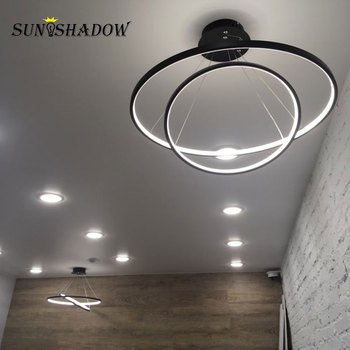 Indoor Lighting 6 Circle Led Pendant Light 30 40 50 60 70 80cm Ceiling Mount Modern Pendant Lamp Lustres Living room Dining room gold led dressing room pendant lamp with acryl shade bedroom dining room pendant light chinese style e27 lustres e pendentes