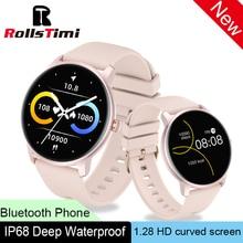 Rollstimi Smart Watch Men Women IP68 Waterproof Bluetooth 5 Sleep Monitor Fitness Heart Rate Tracker Smart Watch Android IOS
