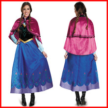 Princess Anna Cosplay Costume Adult Elsa Fairy Party Dress Halloween Female Anime Performance