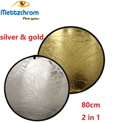Reflektor 2 w 1 złoty  srebrny  80cm 2 kolor reflektor
