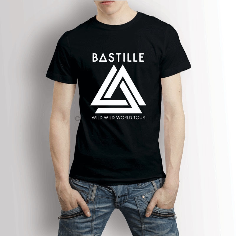 Bastille Wild Wild World Tour Concert  T-Shirt Men& Tee