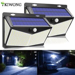 Solar Lights Outdoor 208LED 270° Wide Angle Lighting Solar Motion Sensor Light Wireless IP65 Waterproof Solar Lamp for Garden