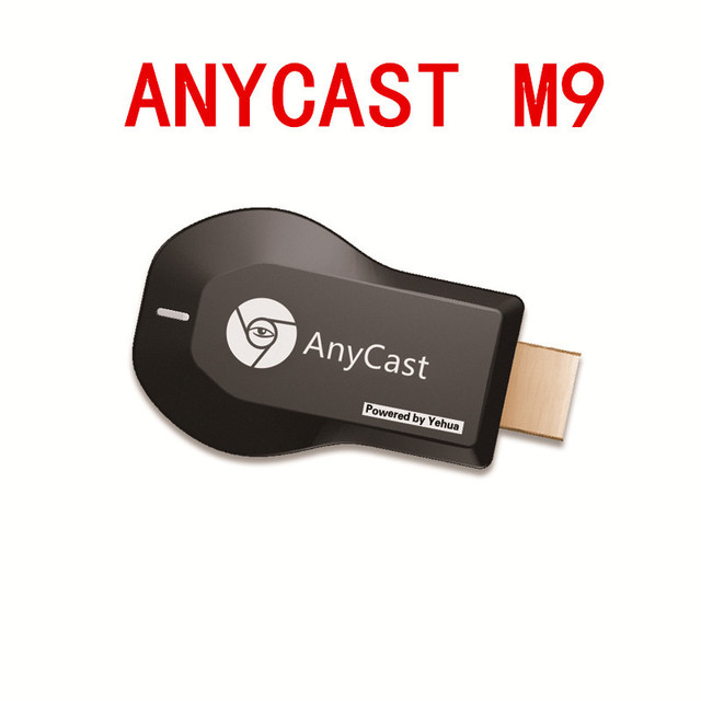 Anycast  M9 Plus Miracast  TV Stick  Adapter Wifi Display Mirror Receiver Dongle Chromecast Wireless HDMI 1080p for Ios Andriod