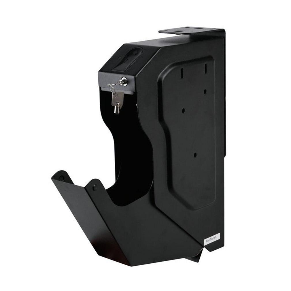 Fingerprint Safe Box Biometric Fingerprint Safe Box Cold-rolled Steel Security Gun Strongbox Key Valuables Jewelry Storage Box