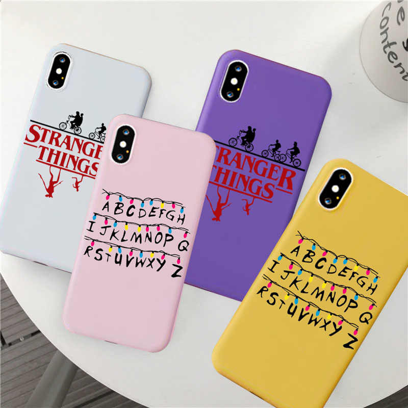Stranger Things Christmas Lights Case For iphone 7 6S 8 Plus X XS XR XS MAX 11 Soft Matte silicone Phone Cases Back Cover Capa