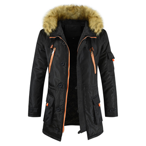 Image 4 - Plus Size S 8XL New Winter Jacket Men Thicken Warm Parkas Casual Long Outwear Hooded Collar Jackets and Coats Mens Veste Homme