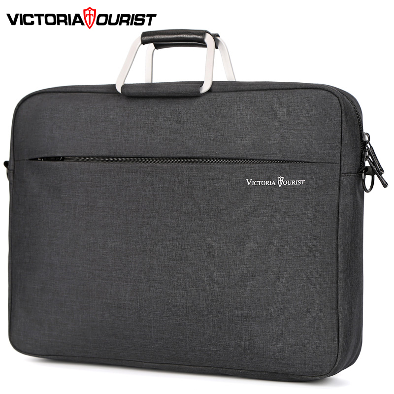 "Victoriatourist Business Handbag Men Women Stylish Versatile Briefcase 15.6"" Laptop Bag Multi-layer Space Messenger Bag"