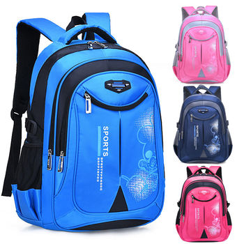 Functional Back Packs Pupil Waterproof School Bags Children Primary Schoolbags Unisex Blue Satchel Students Book Bags smiles 3 pupil s book