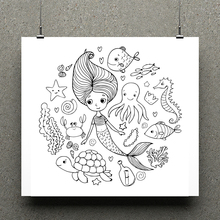 AZSG Mermaid Clear Stamps/seal for DIY Scrapbooking/Card Making/Photo Album Decoration Supplies