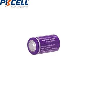 Image 4 - 10 قطعة/الوحدة PKCELL 1/2 AA بطارية 3.6 فولت ER14250 14250 1200 مللي أمبير LiSOCl2 بطارية ليثيوم بطاريات لتحديد المواقع
