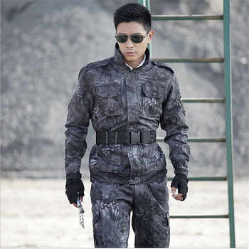 Tactical Army Military Uniform Combat Suits Black Jackets +Pants One Sets Military Camouflage Suits Plus Size 4XL Free Shipping - DISCOUNT ITEM  20 OFF Novelty & Special Use