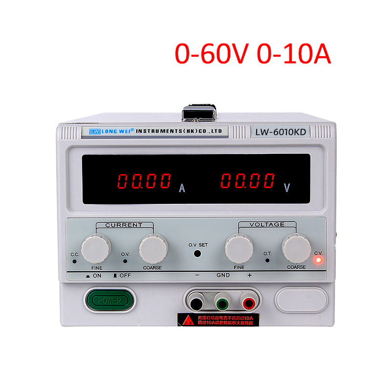 Longwei High Power Adjustable DC Power Supply  60V 10A Digital Display Regulated Switching Power Supply Dual LED display 220V