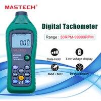 Mastech 비접촉 디지털 타코미터 rpm 미터 tacometro 회전 속도 50 rpm-99999 rpm 100 데이터 홀드 ms6208b