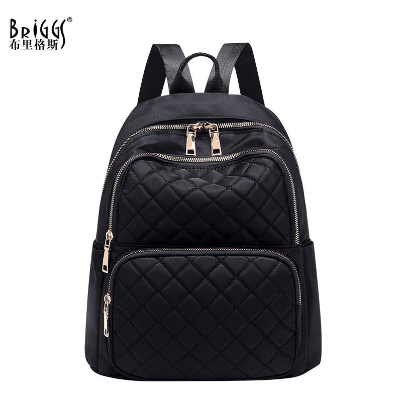 New Women's Backpack Black School Bag For Teenagers Girls Fashion Waterproof Nylon Rucksack Travel Shoulder Bags Mochila Mujer