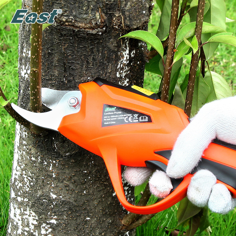 EAST Power Tools 3.6V Li ion Battery Cordless Secateur Branch Cutter Electric Fruit Pruning Tool Shear to Ol Fruit ET1505-in Pruning Tools from Tools