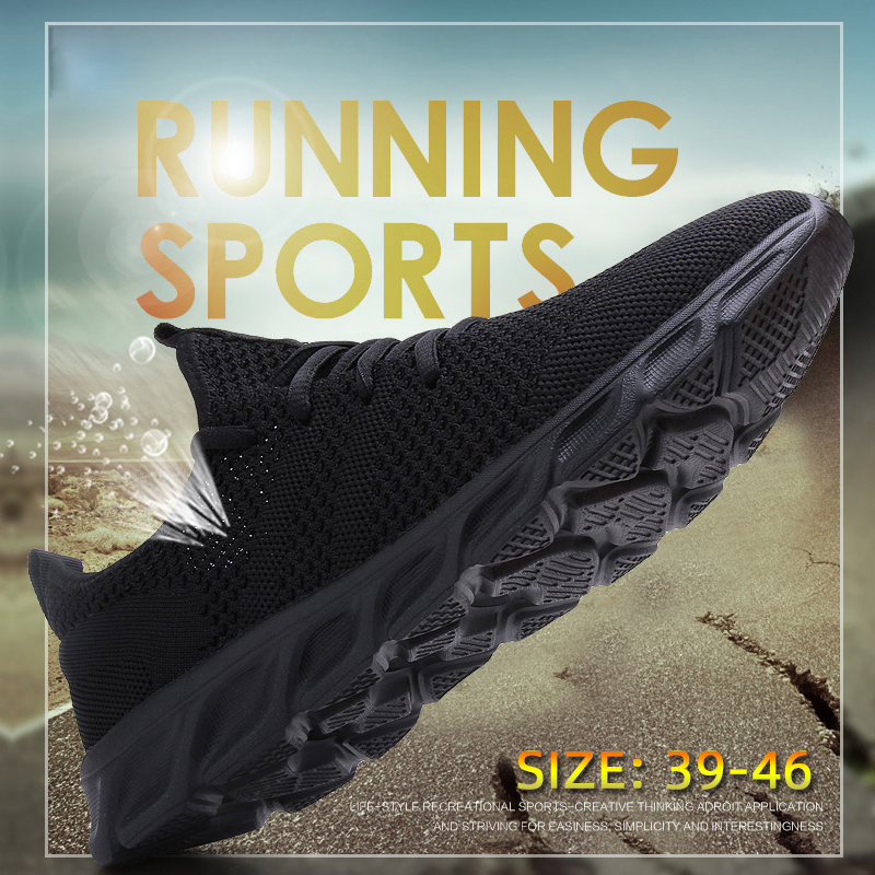 Men Light Running Shoes Flyknit Breathable Lace Up Jogging Shoes for Man Sneakers Anti Odor Men Men Light Running Shoes Flyknit Breathable Lace-Up Jogging Shoes for Man Sneakers Anti-Odor Men's Casual Shoes Drop Shipping