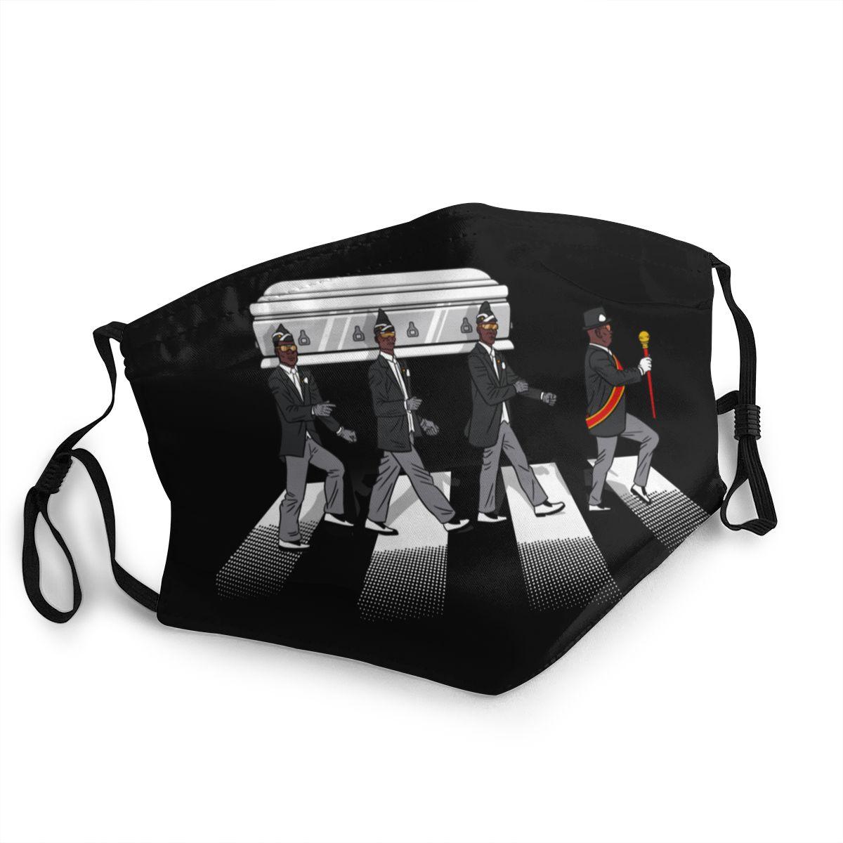 Coffin Dance Funeral Casket Pallbearers Reusable Face Mask Rip Africa Music Dancer Anti Haze Dust Protection Cover Respirator
