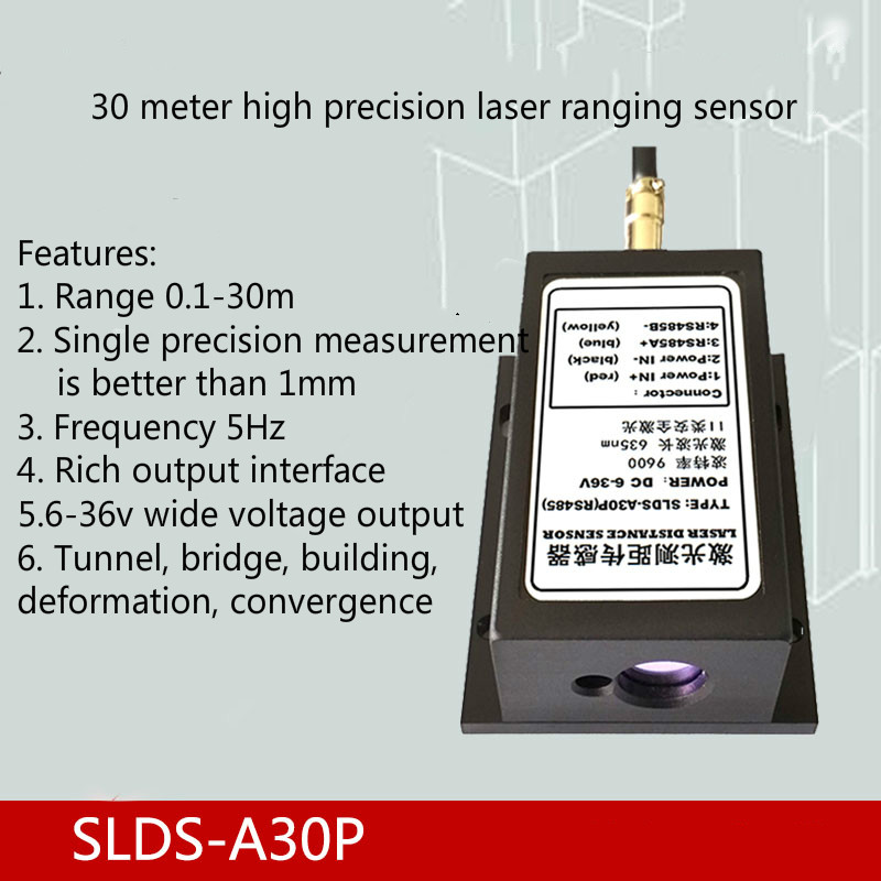 30m High Precision 0.5 Mm Laser Ranging Sensor for Deformation Monitoring of Bridge Tunnel Air Conditioner Parts     - title=