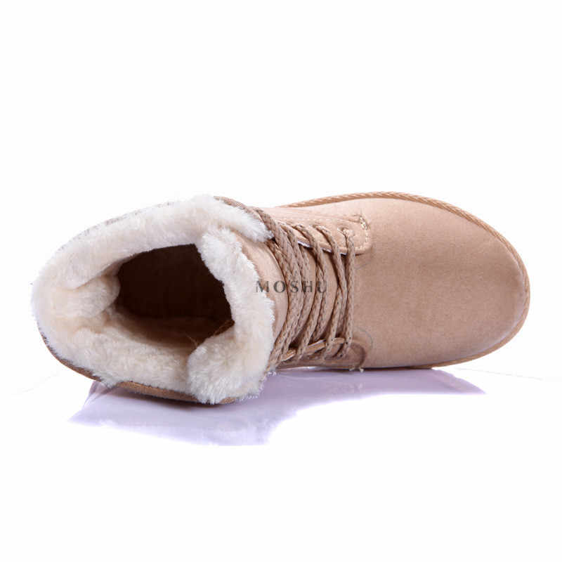 Kadın Kış yarım çizmeler Klasik Süet Kar Sıcak Çizmeler Kadın Kürk Astarı Yüksek Kaliteli Çizmeler Kadınlar için 2019 Zapatos De Mujer