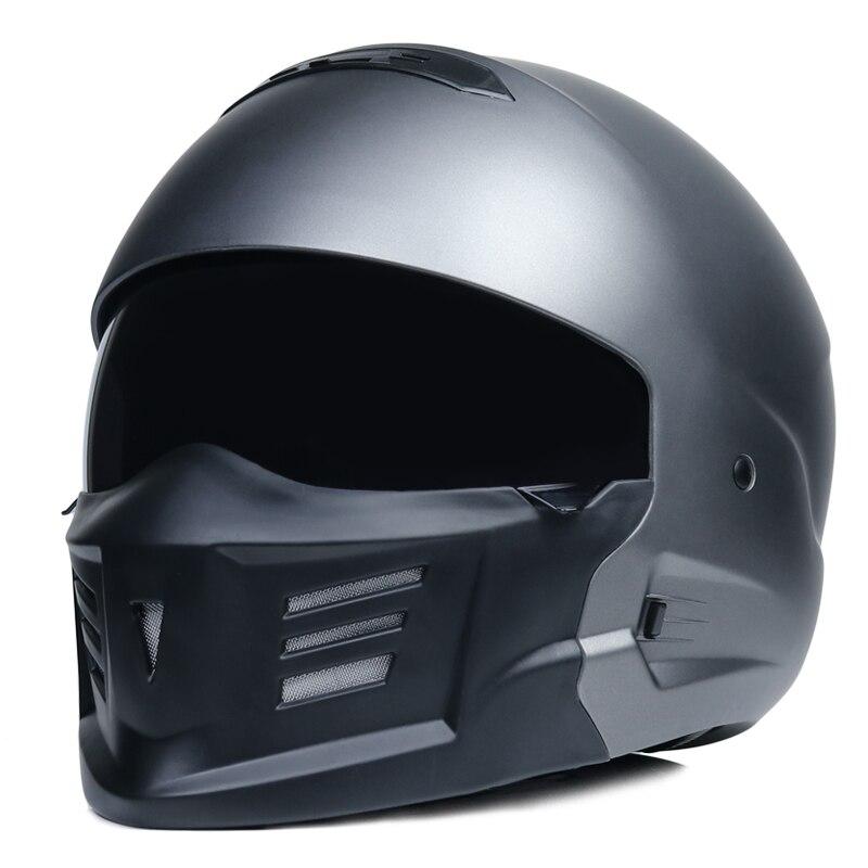 Motorcycle equipment retro helmet female full face helmet locomotive running helmet male full cover