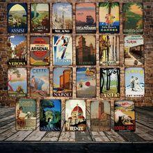 [Mike86] Firenze Italy Verona жестяная вывеска винтажный Ravenna рисунок на железной поверхности в стиле ретро Феррара icity Poster Art 20*30 см LT-1840