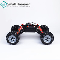 2019 New Omni directional smart car chassis universal wheel with cover four wheels drive
