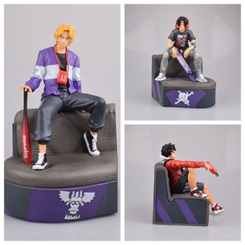 Anime ONE PIECE Fashion Style Luffy Ace Sabo Figure Model Toy 2