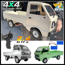 WPL D12 1/10 4WD RC Car Simulation Drift Truck High Performance 260 Motor Climbing Car LED Light RC Car Toys For Boys Kids Gifts