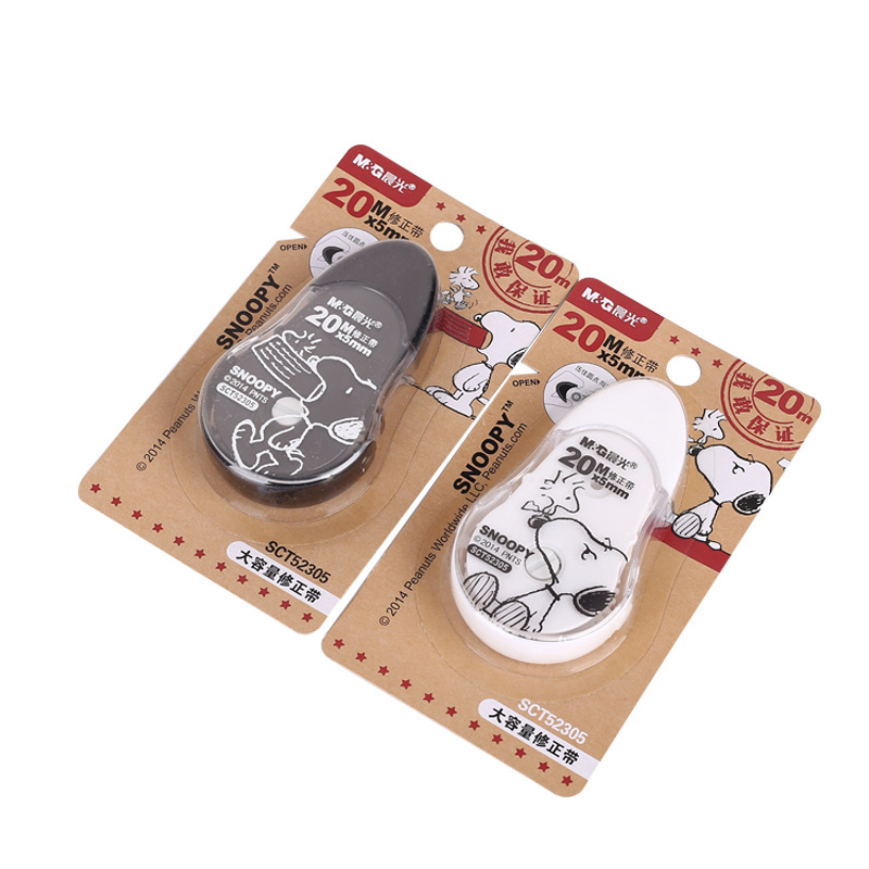 M&G SCT52305 Snoopy Correction Tape Corretion Pen/fluid 20 M Large Capacity Cute Correction Tape Stationery Correction