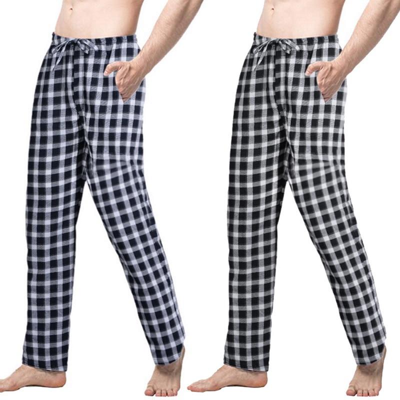 Great Value Spring Summer Mens Pajamas Sleep & Lounge Pants Male Pajama Sleep Pants Men Sleepwear Men Polyester Sleep Bottom