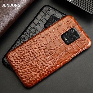 Image 2 - Skórzany futerał na telefon do Xiaomi Redmi Note 9 S 8 7 6 5 K30 Mi 9 se 9T 10 Lite A3 Mix 2s Max 3 Poco F1 X2 X3 F2 Pro krokodyl