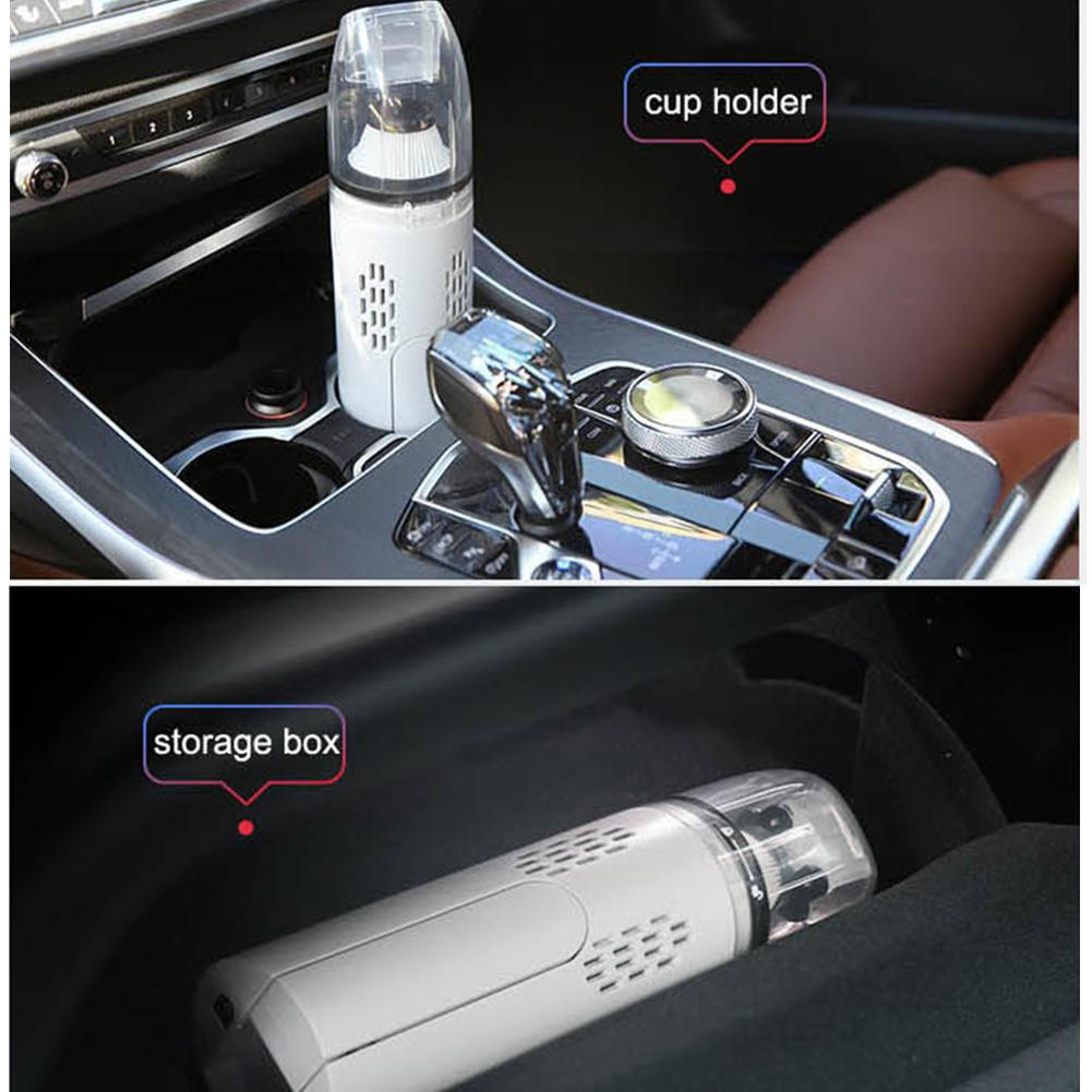 Car Vacuum Cleaner With High Suction Power & Wireless Charging