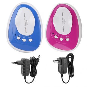 Ultrasonic cleaner Eye Protein Cleaner kontakt środek do czyszczenia obiektywów Eye Protein Cleaning Case USB codzienna pielęgnacja kontakt akcesoria do obiektywu tanie i dobre opinie VGEBY CN (pochodzenie) Other 220 v Ultradźwiękowa 10-15 minut