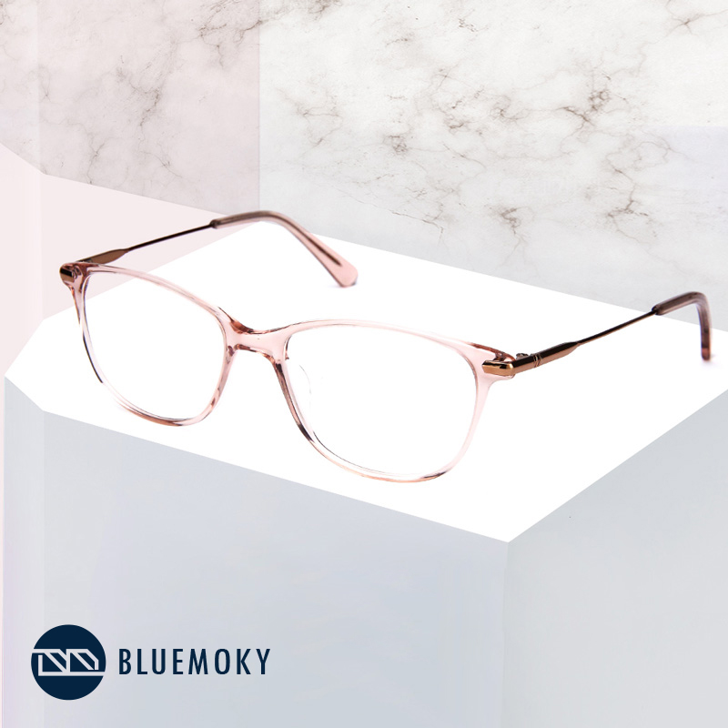 Image 2 - BLUEMOKY Prescription Glasses Frame for Women Optical Myopia Eyewear Eyeglasses Frame Women Clear Lens Rectangular Fake Glasses-in Women's Eyewear Frames from Apparel Accessories