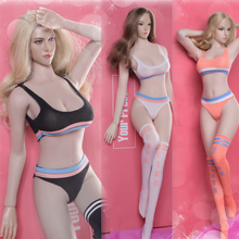 цены на FG058A/B/C 1/6 Female Figure Sexy Sports Underwear Clothes Accessory Suit Set Accessory for 12'' Seemless Action Figure Body  в интернет-магазинах