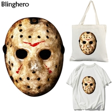 Blinghero Jason Voorhees Heat Transfer Patches Friday the 13th Patch Vynil Heat Press Stickers Ironing Sticker Diy Patch BH0370 friday the 13th character jason voorhees vinyl cute figure model doll toys