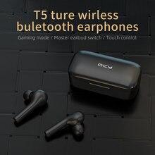 سماعات شاومي T5 TWS لاسلكية تعمل باللمس مع خاصية البلوتوث V5.0 ثلاثية الأبعاد بصوت ستيريو وميكروفون مزدوج مع خاصية إلغاء الضوضاء