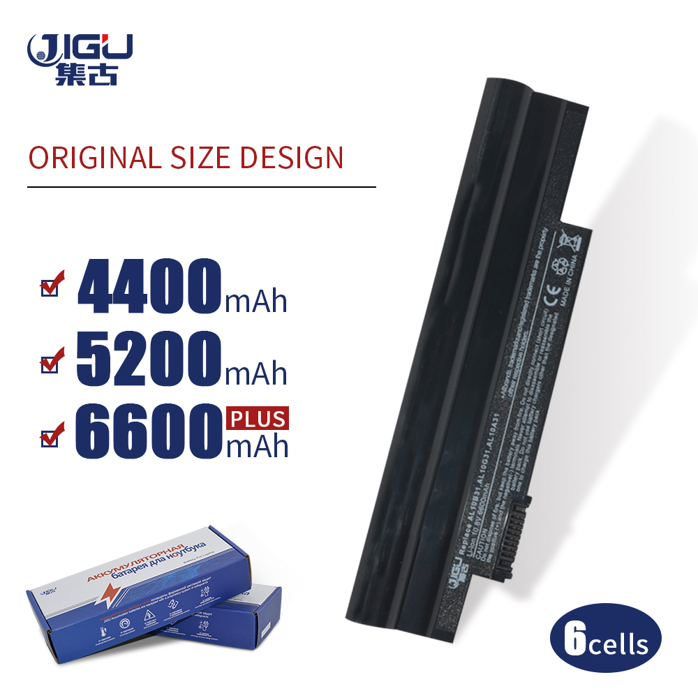 JIGU 6CELLS AK.003BT.071 AL10B31 AL10G31 Laptop Battery For Acer For Aspire One 522 AOD255  D255 D255E D257 D260 Series