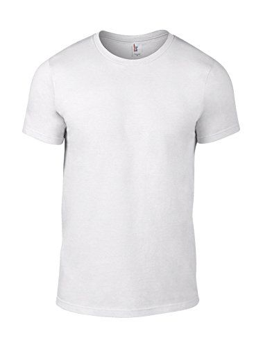 Anvil - Anvil Men's Lightweight Tee, T-shirt Da Uomo, Bianco (white), XL
