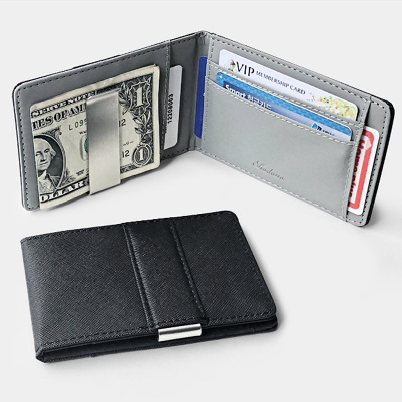 Novelty Thin Section Men Business Credit Card Holder RFID Metal Wallet Organizer Case Stainless Steel Purse ID Cardholder