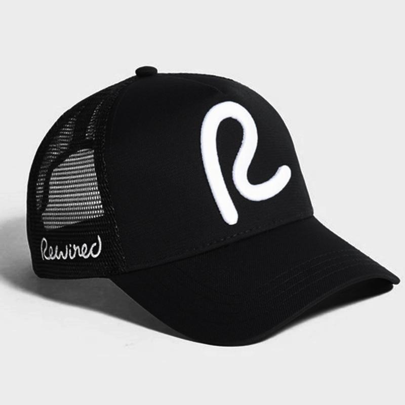 rewired   baseball     cap   men women Rewired R Trucker   Cap   fashion adjustable cotton   cap   hats